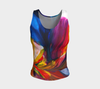 Paradise Fitted Tank Top - Sunset (Regular) - Vibrant Artz