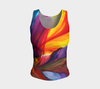 Paradise Fitted Tank Top - Sunrise (Regular) - Vibrant Artz