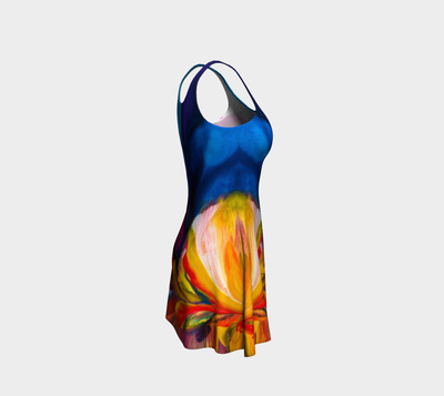 Paradise Flare Dress - Sunset - Vibrant Artz