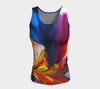 Paradise Fitted Tank Top - Sunset (Long) - Vibrant Artz