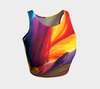 Paradise Athletic Crop Top - Sunrise - Vibrant Artz