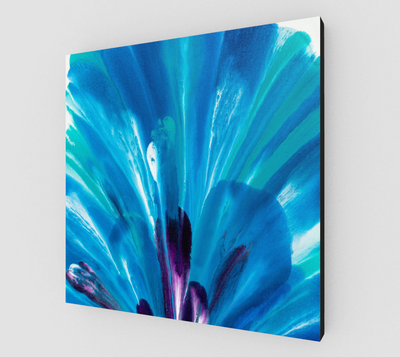 Blue Blush  Canvas Print - Vibrant Artz