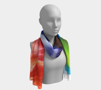 Labyrinth Long Scarf - Vibrant Artz