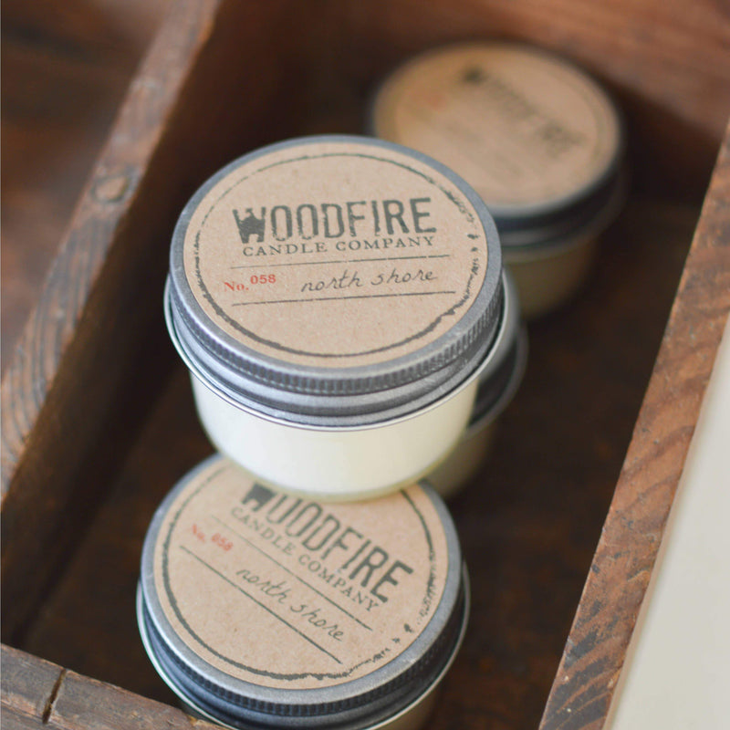 Woodfire Candle Company - Jelly Jar Wood Wick Soy Candle - Pen & Grey
