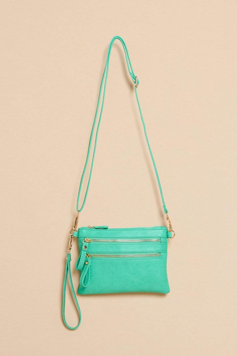 Three Bird Nest - Sandstone Crossbody Bag - Turquoise - Pen & Grey
