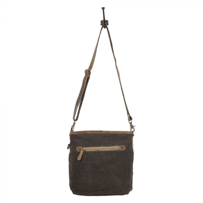 Myra - Burnt Sienna Shoulder Bag - Pen & Grey