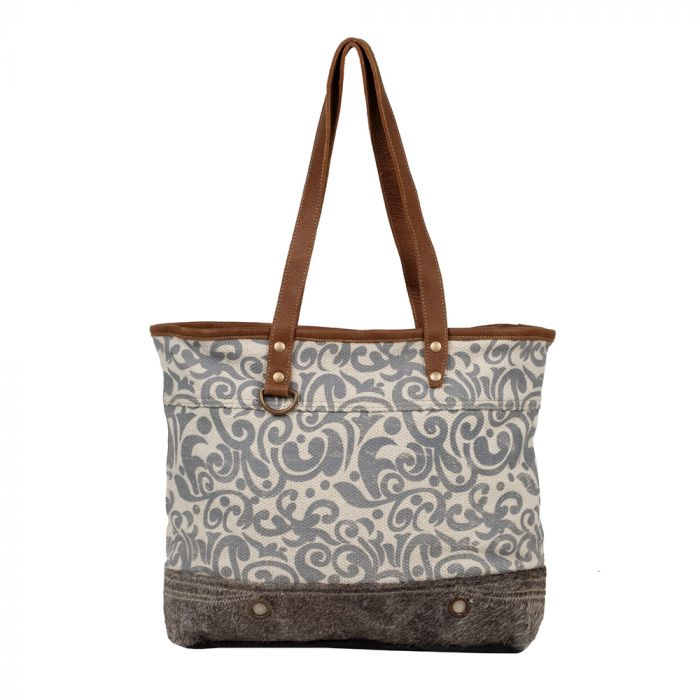 Myra - Favour Tote Bag - Pen & Grey