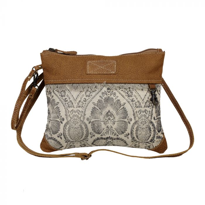 Myra - Floral Flow Small & Crossbody Bag - Pen & Grey