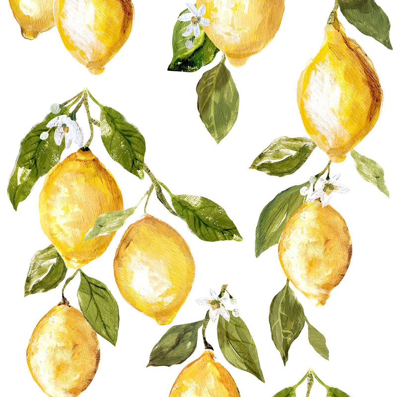 IOD Lemon Drops 12 x 33 Decor Transfer - Pen & Grey