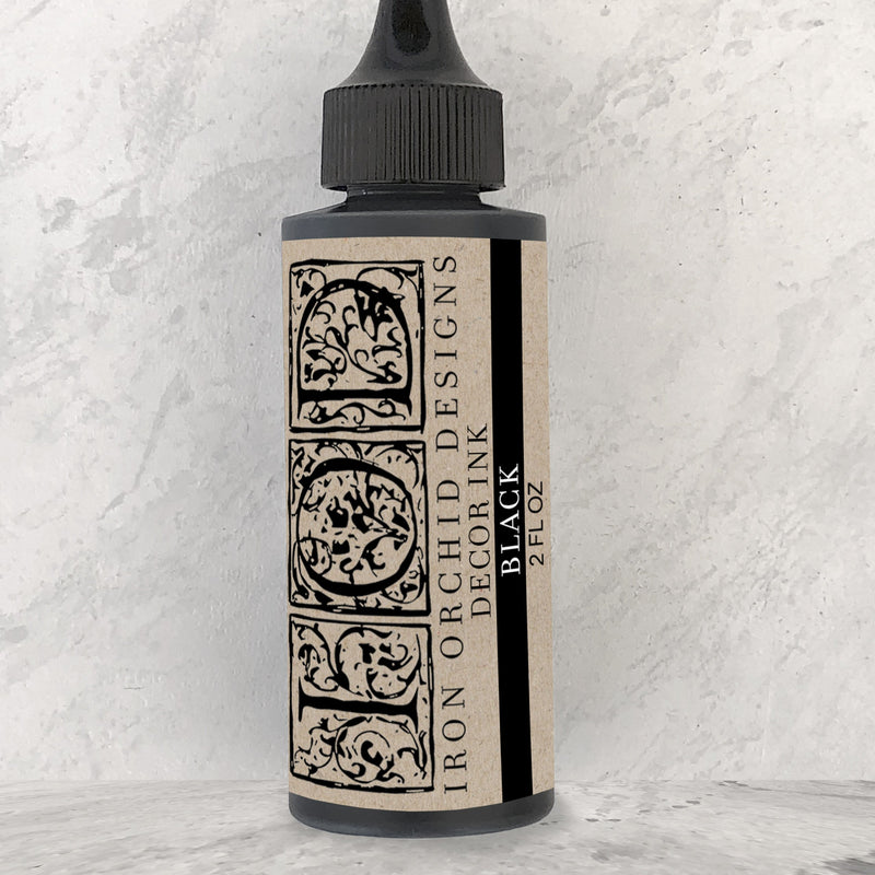 IOD Decor Ink - Black 2oz. - Pen & Grey