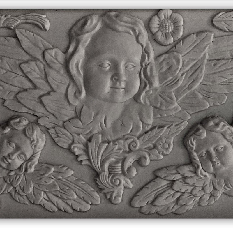IOD Classic Cherubs 6 x 10 Decor Moulds - Pen & Grey