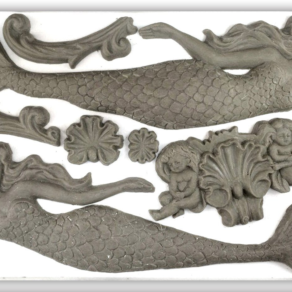IOD Sea Sisters 6 x 10 Decor Moulds - Pen & Grey