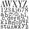IOD Typesetting 12 x 12 Decor Stamp - Pen & Grey
