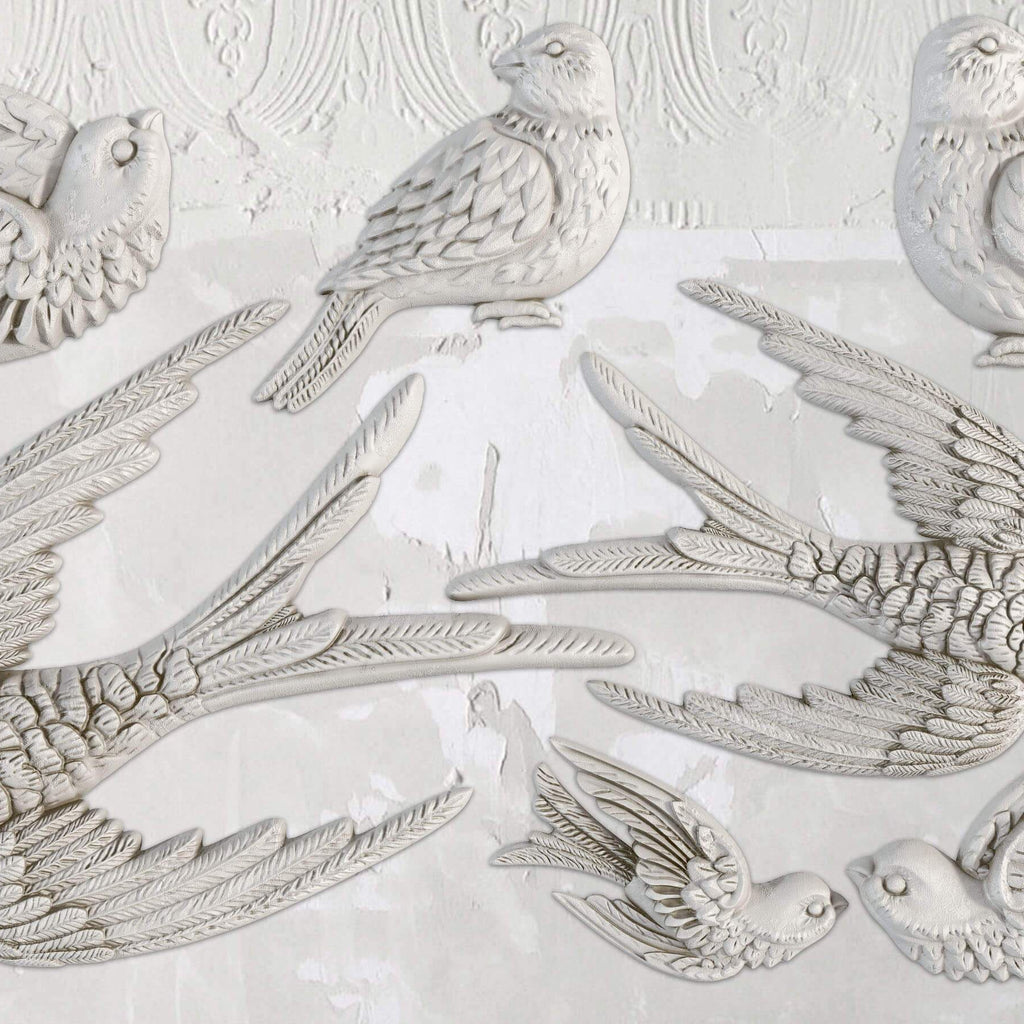 IOD Birdsong 6 x 10 Decor Moulds - Pen & Grey