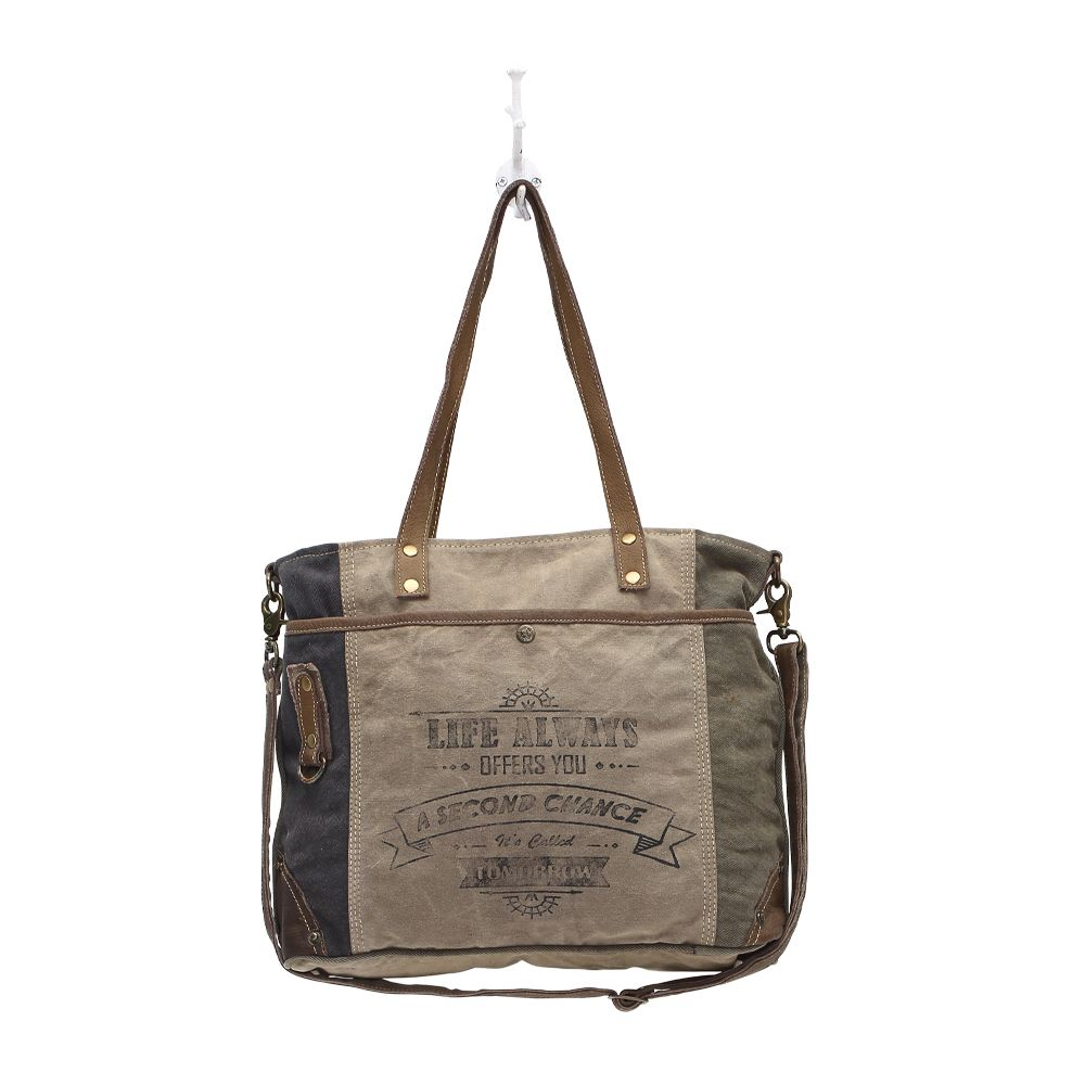 Myra - Life Always Shoulder Bag - Pen & Grey