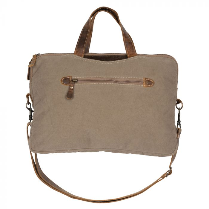Myra - Moods of Brown Messenger Bag - Pen & Grey