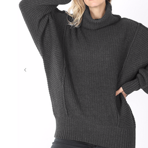 Oversized Sweater -Charcoal