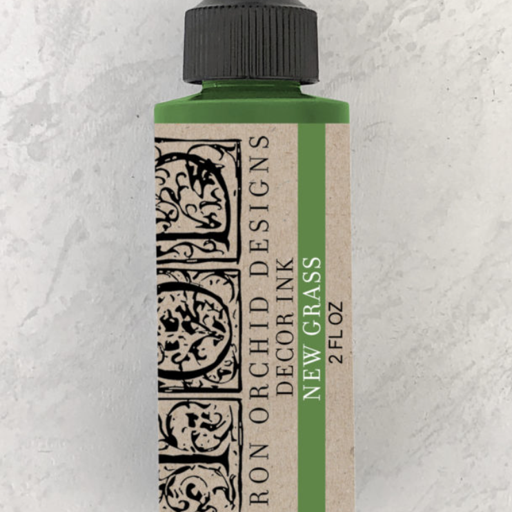 IOD Decor Ink - New Grass 2oz. - Pen & Grey