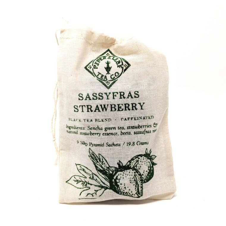 Piper & Leaf Artisan Tea Co - Sassyfras Strawberry - 9 Tea Bags - Pen & Grey