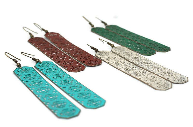 Gleeful Peacock - Departure Earrings Straight or Looped