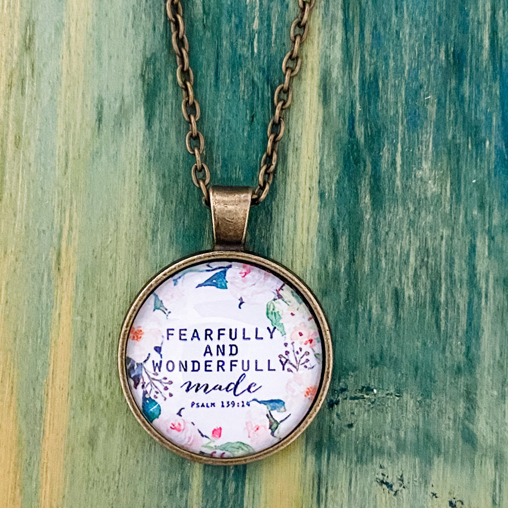 Fearfully and Wonderfully Necklace - Pen & Grey