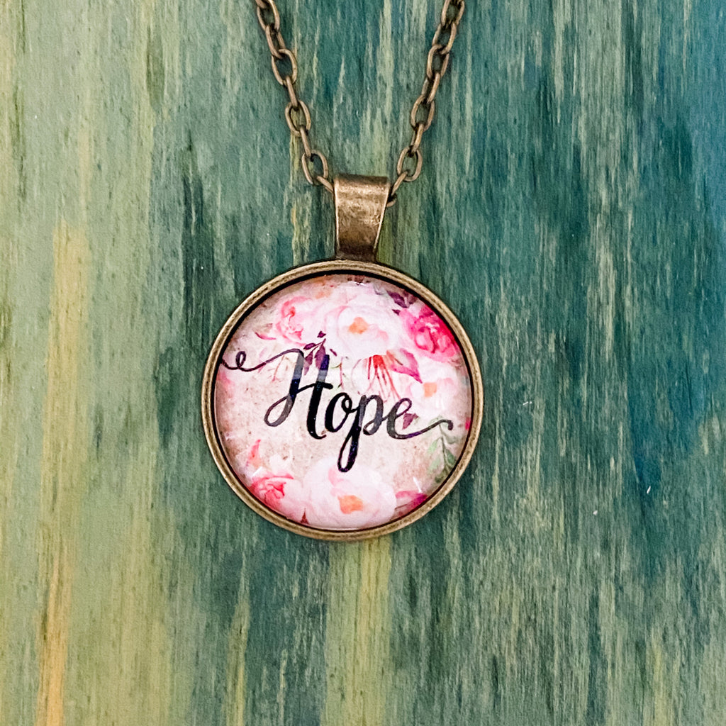 Hope Necklace - Pen & Grey