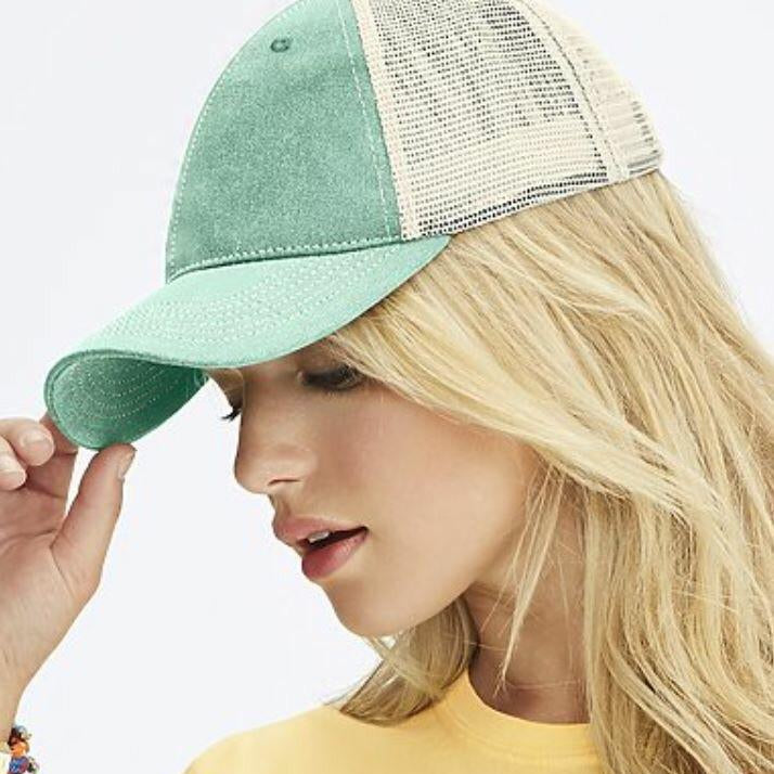 Mint CC Trucker Hat - Pen & Grey