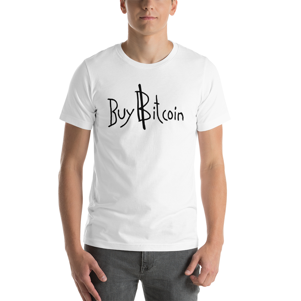 "VaporWear ""BUY BITCOIN"" Short-Sleeve Unisex T-Shirt"