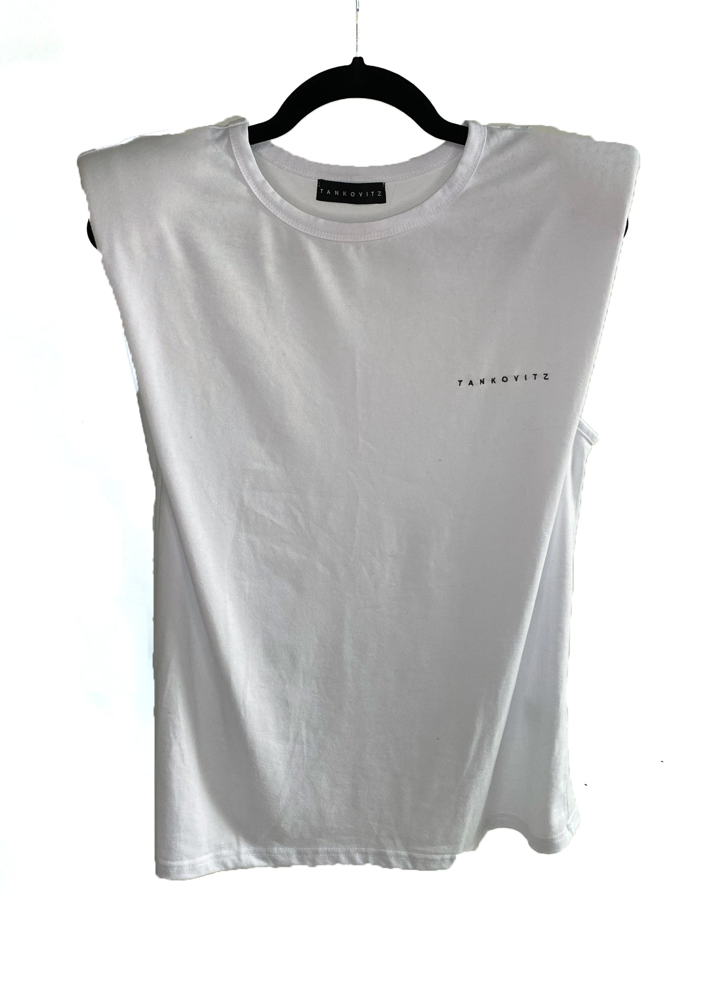 Embroidered TANKOVITZ on white