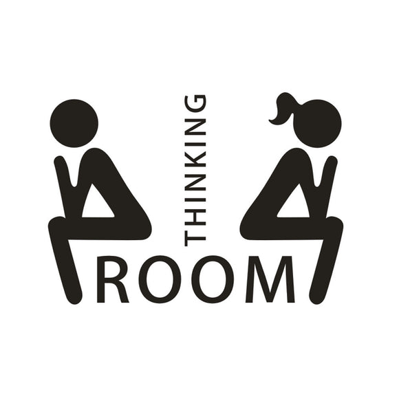Thinking Room Toilet Seat Bathroom Sticker Decal