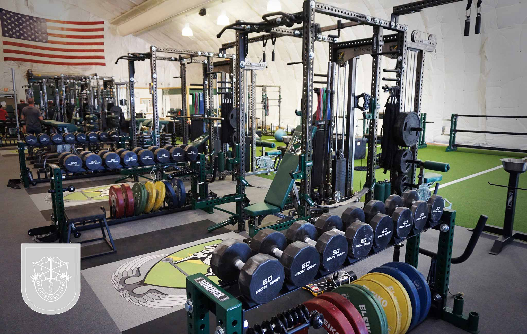 10th sfg Sorinex strength and conditioning facility