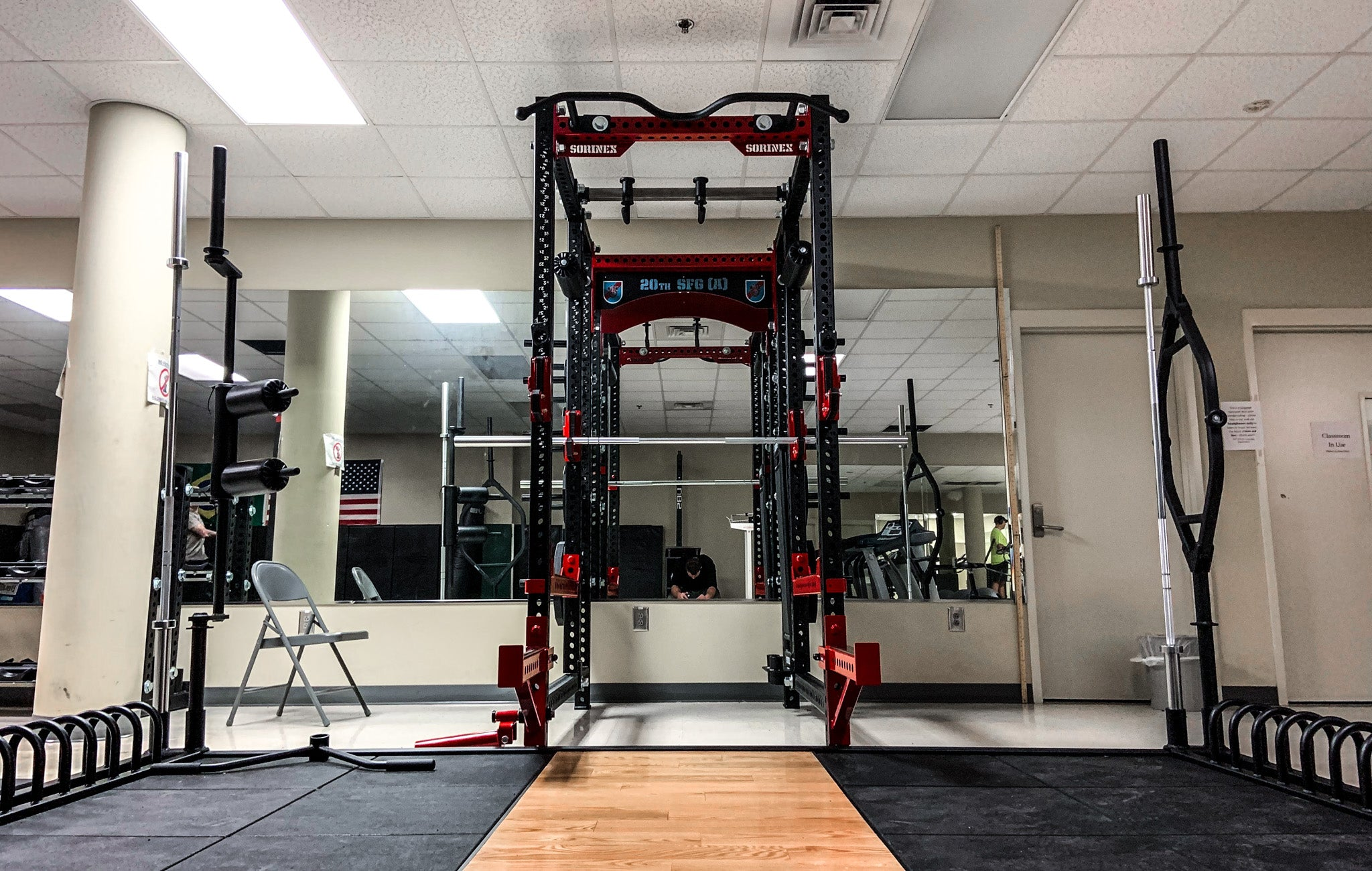 US military strength training facilities