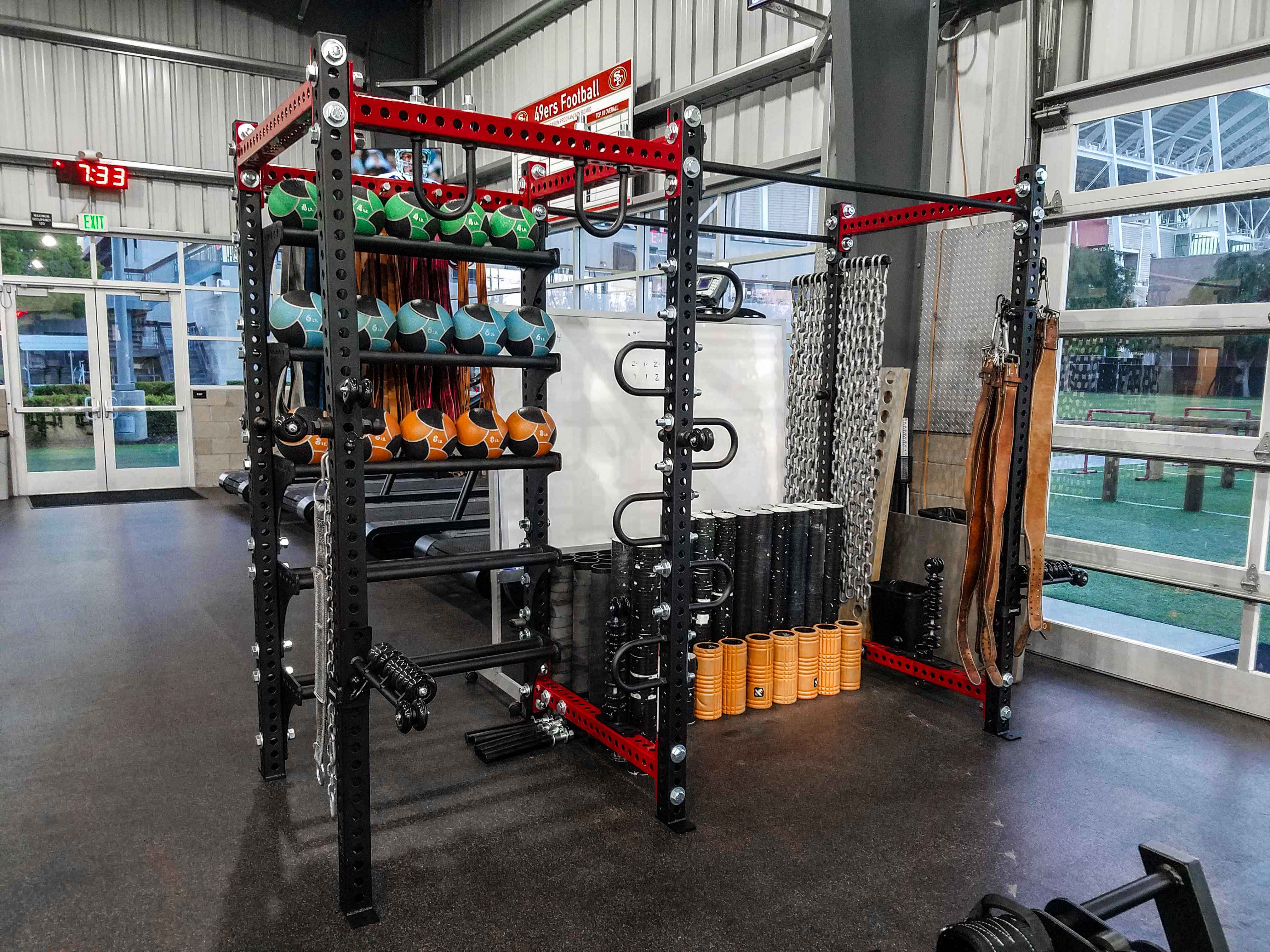 49ers Recovery Rack