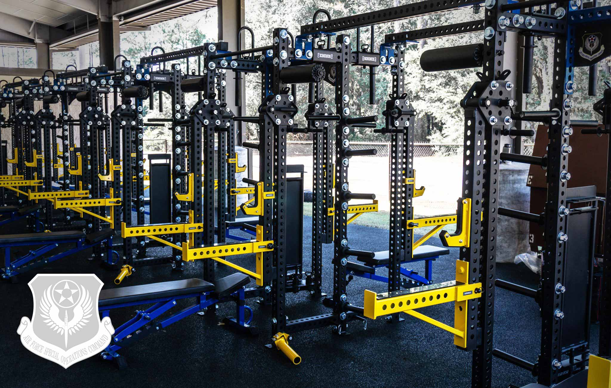 AFSOC Sorinex strength and conditioning facility