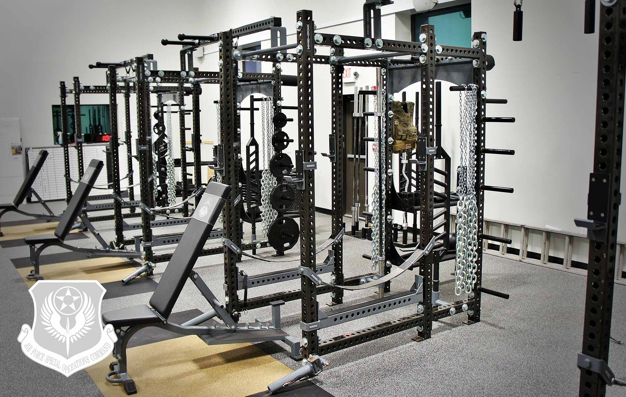 AFSOC POPE AAF Sorinex strength and conditioning facility