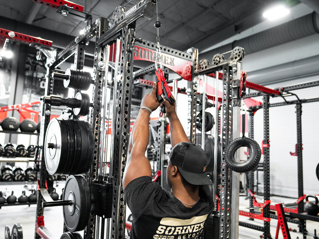 lat pulls with pistol grips