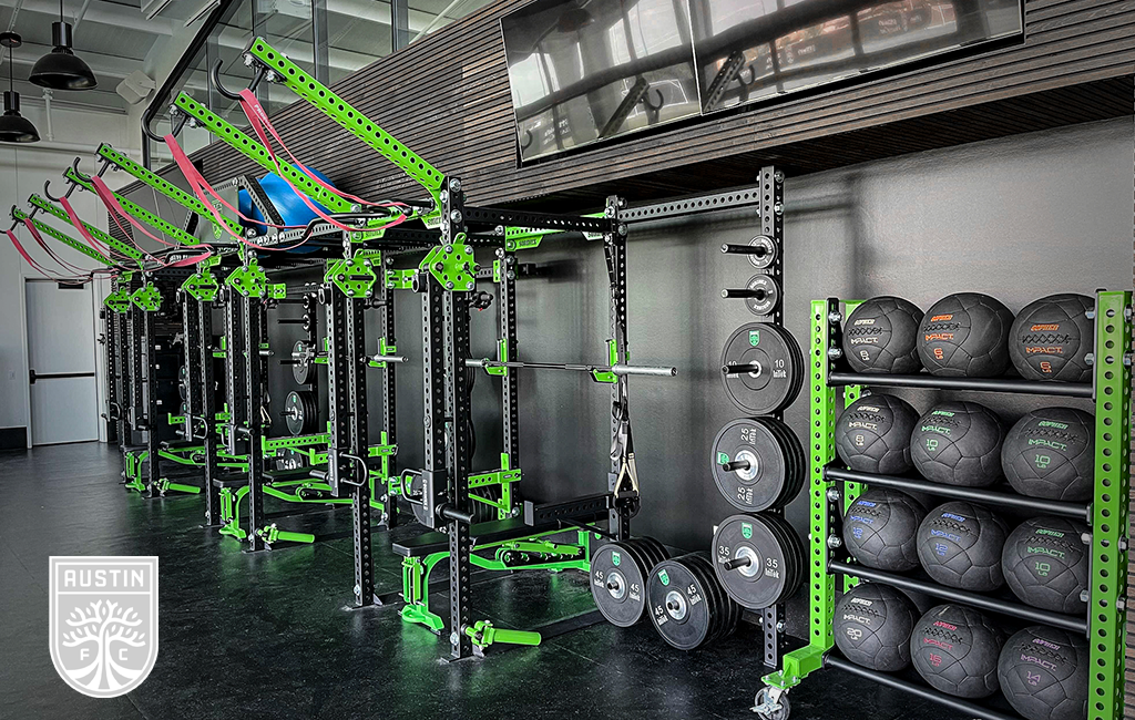 Austin FC strength and conditioning facility