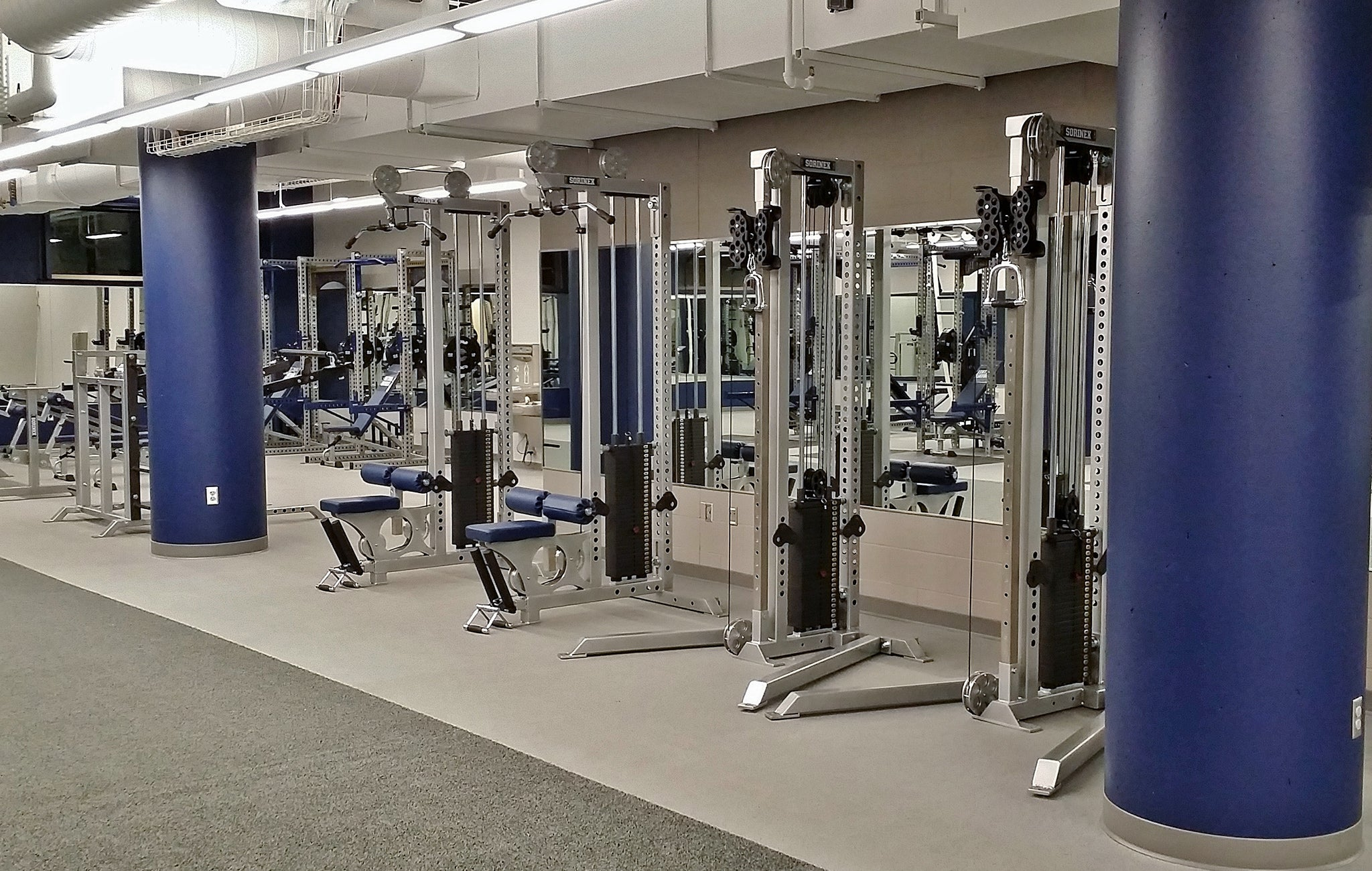 college strength training facilities