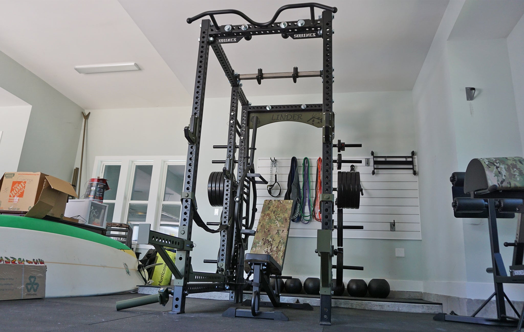 Brandon Linder Home Gym