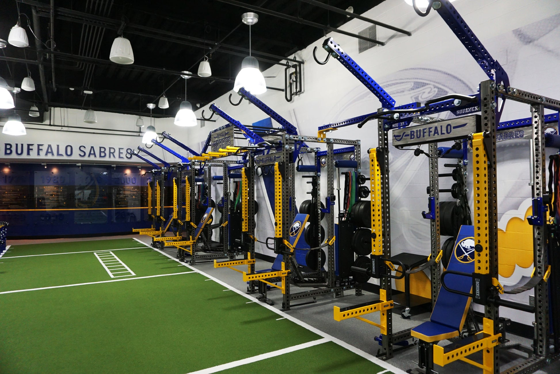 Buffalo Sabres Weight room