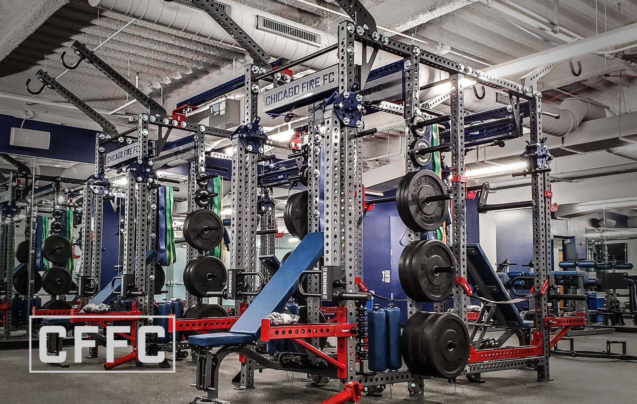 Chicago Fire Sorinex strength and conditioning facility