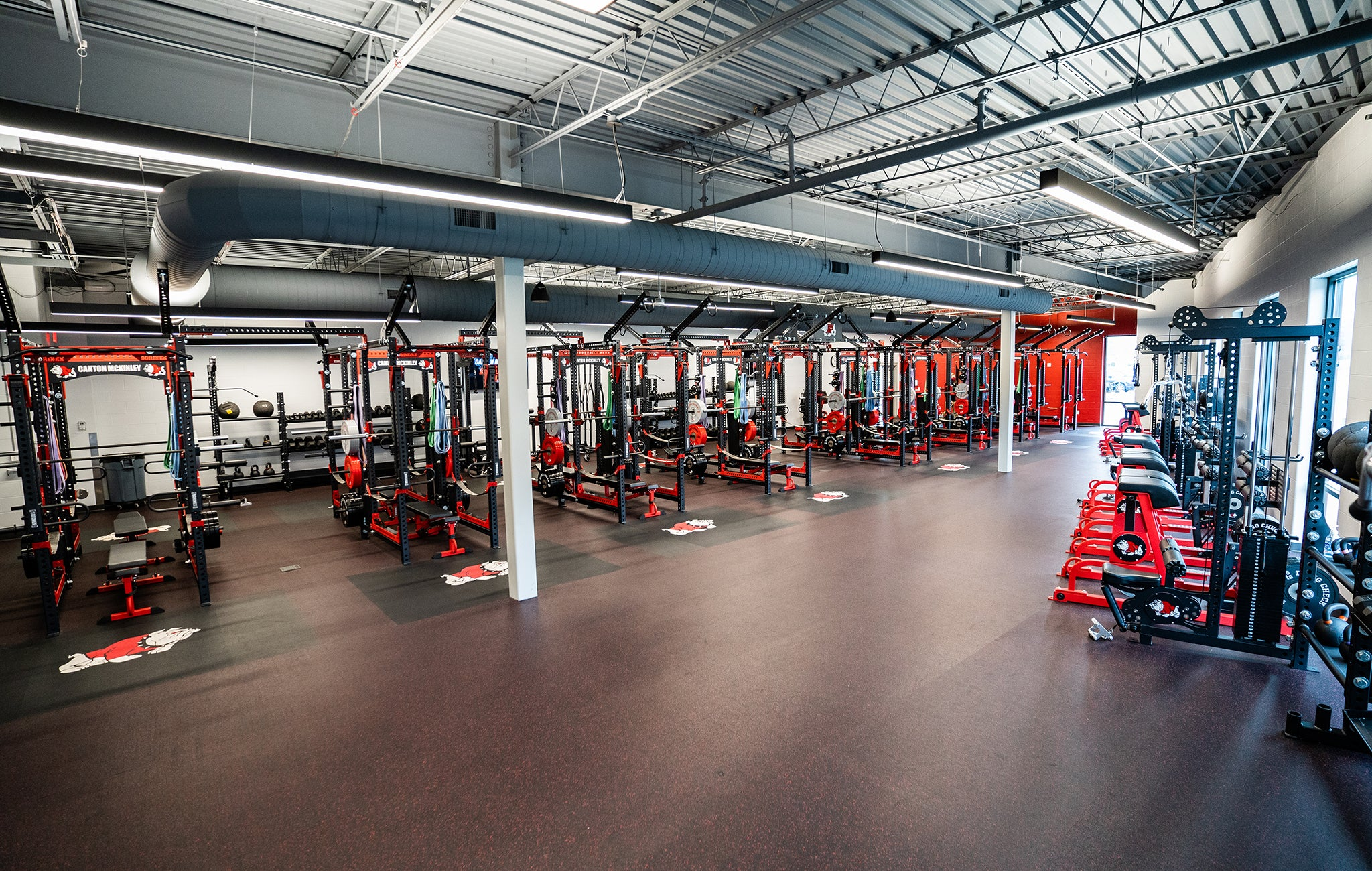 Canton McKinley High School Weight Room NFL Hall of Fame