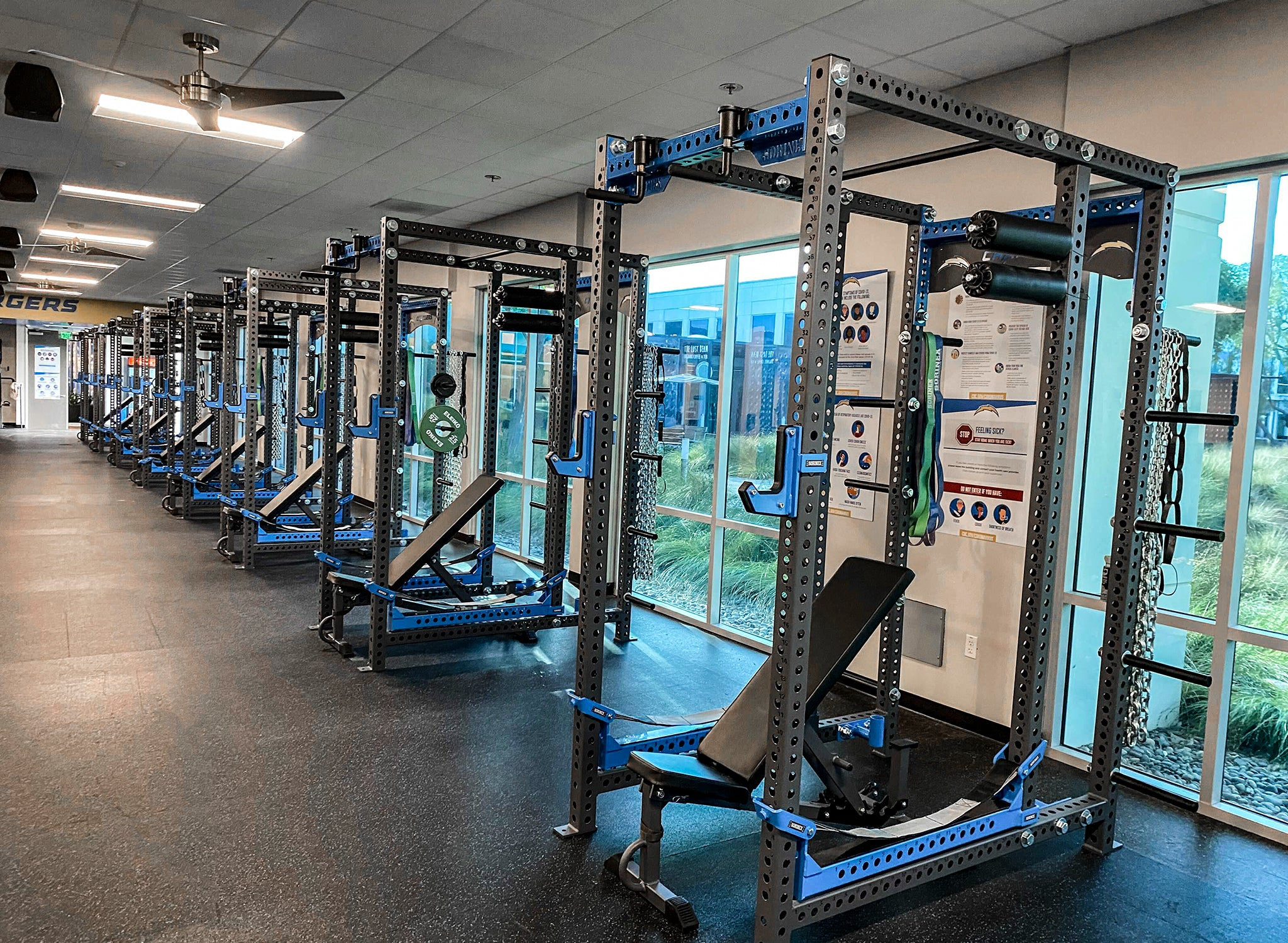 Los Angeles LA Chargers NFL weight room