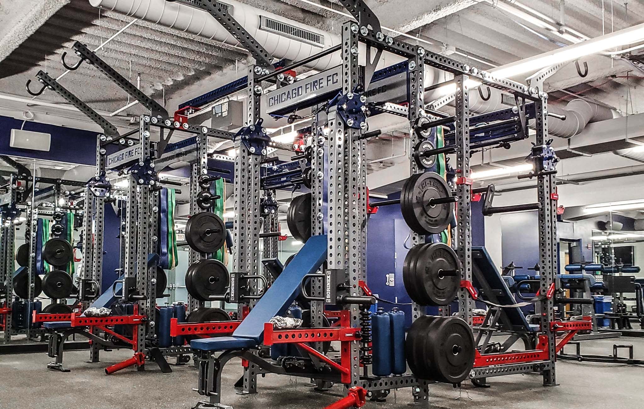 Chicago Fire Soccer Weight Room