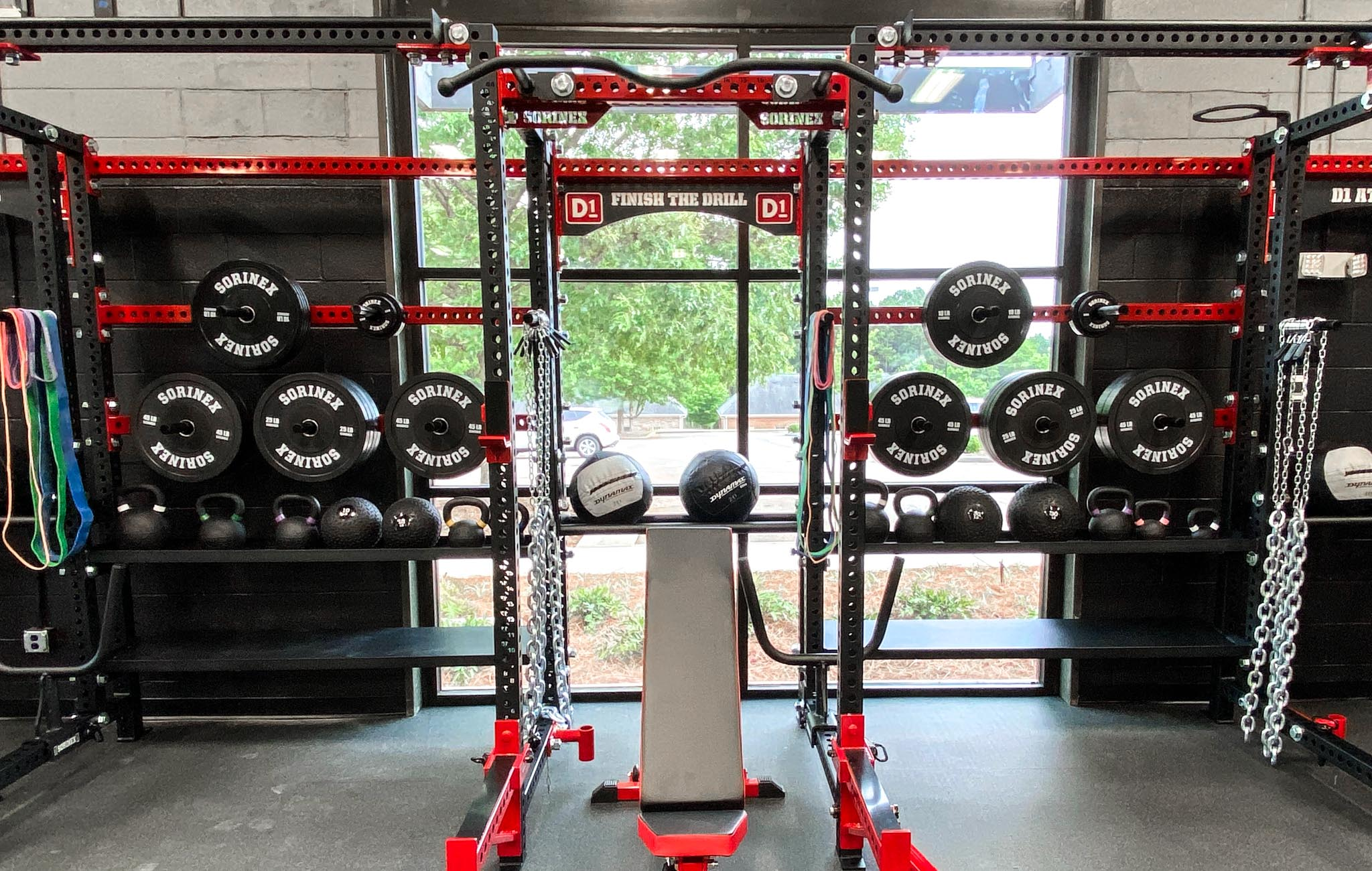 D1 Athens weight room