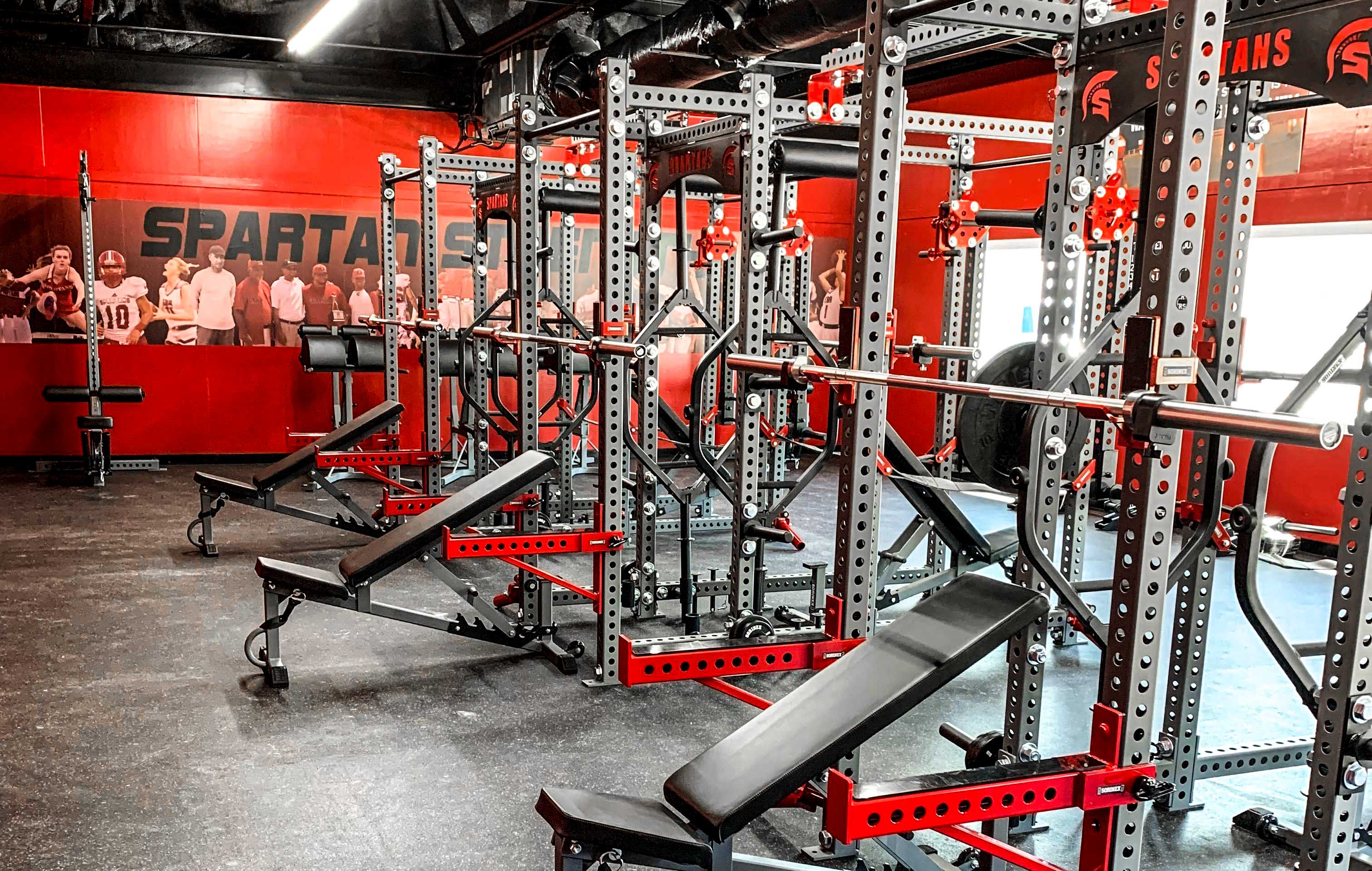 Edmund Burke Academy weight room
