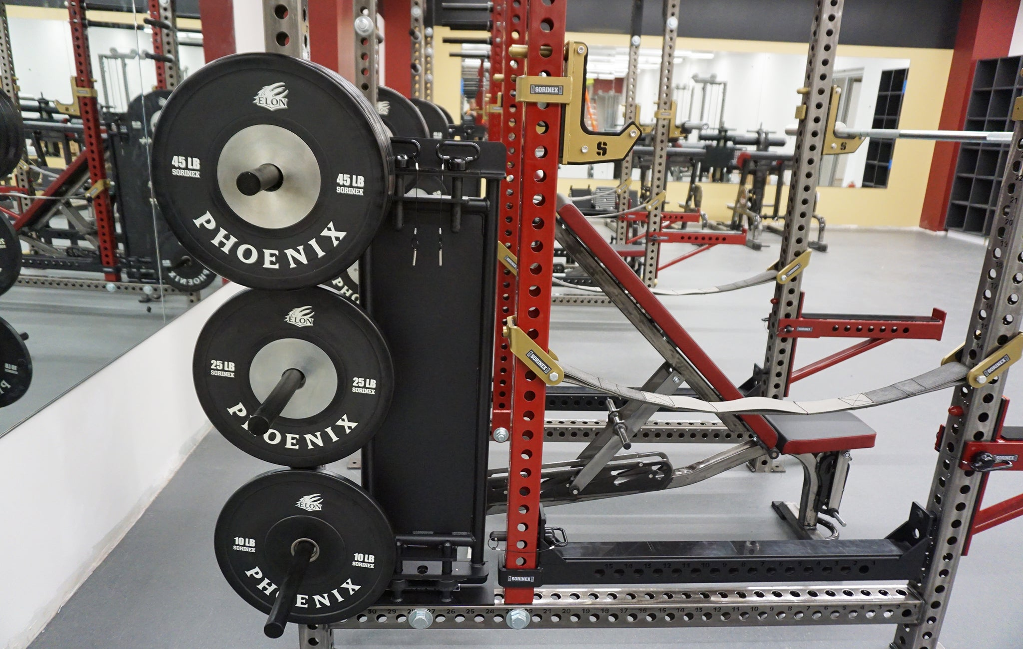 Elon University strength training facility