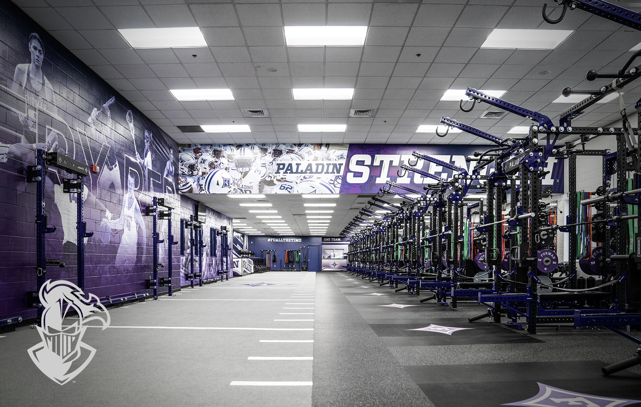 Furman University Sorinex strength and conditioning facility