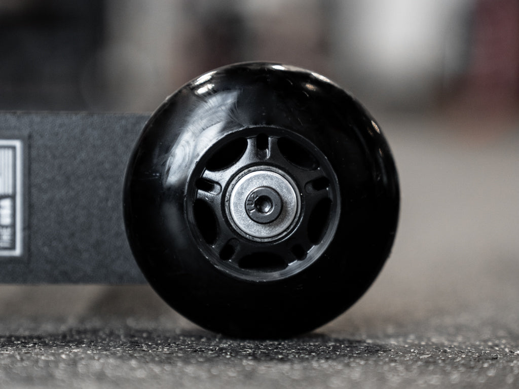 Black Urethane Wheels with ABEC Bearings