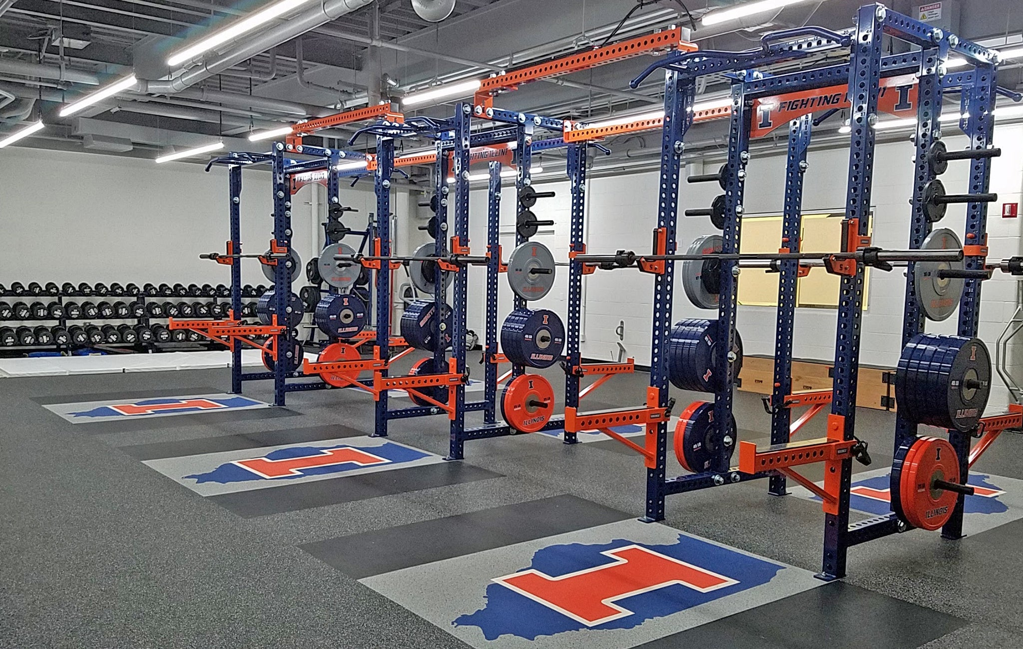 University of Illinois Basketball Weight Room